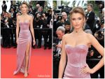"""Josephine Skriver In Philosophy DiLorenzo Serafini @ """"Once Upon a Time in Hollywood""""  Cannes Film Festival Premiere"""
