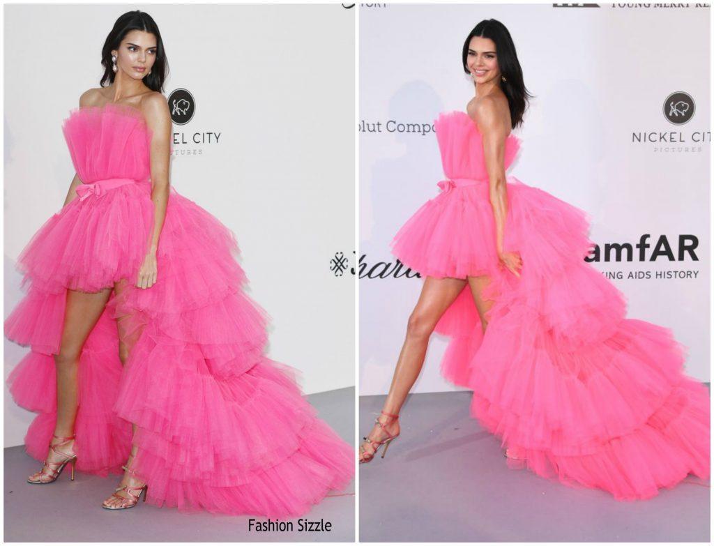 Kendall Jenner In Giambattista Valli X H Amp M 2019 Amfar