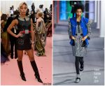 Laura Harrier  In Louis Vuitton @ 2019 Met Gala