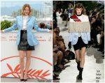 """Léa Seydoux  In @ Louis Vuitton   """"Oh Mercy! (Roubaix, Une Lumière)""""  Cannes  Film Festival Photocall"""