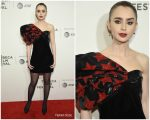 Lily Collins  In Saint Laurent   @ 'Extremely Wicked Shockingly  Evil & Vile @ 2019 Tribeca Film Festival Premiere