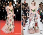 "Liya Kebede In Valentino @  ""Pain and Glory (Dolor Y Gloria)"" Cannes Film Festival Premiere"