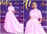 Naomi Scott In Brandon Maxwell  @ Aladdin Hollywood Premiere