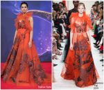 Naomi Scott in Valentino Haute Couture @ 'Aladdin' Berlin Premiere