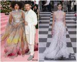 Priyanka Chopra Jonas  In Christian Dior  & Nick Jonas in DiorMen @ 2019 Met Gala