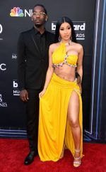 Cardi B In Moschino With Offset @ 2019 Billboard Music Awards