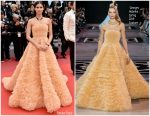 "Sara Sampaio  In Georges Hobeika Couture @ ""Once Upon a Time in Hollywood""  Cannes Film Festival Premiere"