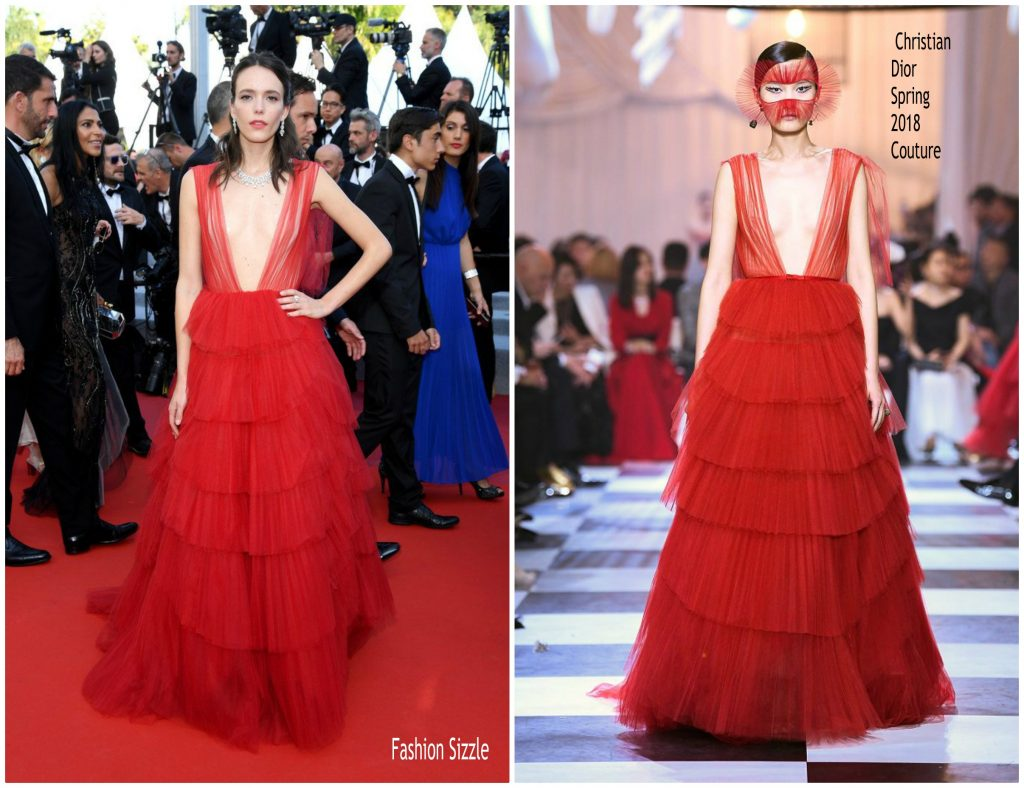 2019 Cannes Film Festival Opening Ceremony: Stacy Martin In Christian Dior Haute Couture @ 2019 Cannes