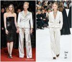 "Tilda Swinton In Chanel @ ""Parasite""  Cannes Film Festival Premiere"