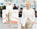 "Tilda Swinton in Haider Ackermann @ 'The Dead Don't Die"" Cannes Film Festival Photocall"