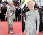 Tilda Swinton In Haider Ackermann @ 'The Dead Don't Die' Cannes Film Festival Premiere & Opening Ceremony