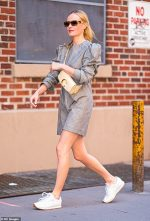 Kate Bosworth  In  AKNVAS dress Out In New York