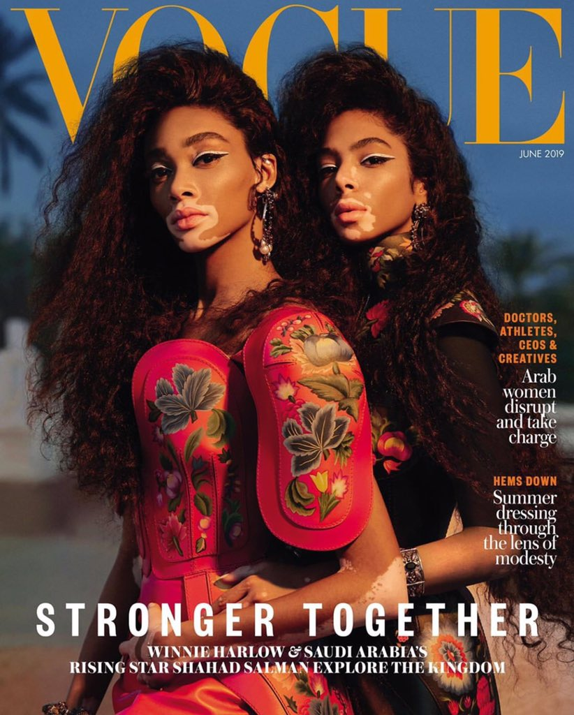 vogue-arabia-june-2019-:-winnie-harlow-&-shahad-salman-by-dan-beleiu