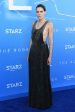 Emma Greenwell in Giorgio Armani @ 'The Rook' LA Premiere