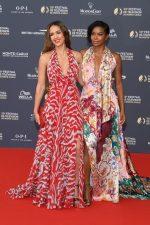 Jessica Alba (in Prabal Gurung) and Gabrielle Union (in Oscar de la Renta) @ the 59th Monte Carlo TV Festival Opening Ceremony