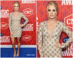 Carrie Underwood In Michael Cinco @  2019 CMT Music Awards