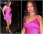 Rihanna In Hot Pink Dress @ FENTY x Webster Pop-up Cocktail Party in New York City