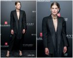 Rosamund Pike  In Alexander McQueen @  Bvlgari High Jewelry Exhibition In Shanghai
