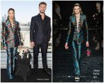 Tessa Thompson in Versace @ 'Men in Black: International' Moscow Photocall