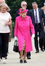 Queen Elizabeth II In  Angela Kelly  Coat @ National Institute of Agricultural Botany