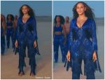 "Beyoncé  Knowles In  Laurel DeWitt  Jumpsuit For ""Spirit""  Music Video"