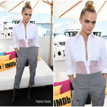 cara-delevigne-in-thom-browne-comic-con-2019