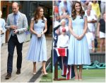 Catherine, Duchess of Cambridge  In Emilia Wickstead @ Wimbledon Men's Final