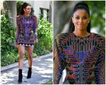 Ciara In Balmain  Dress Out In LA