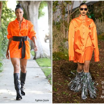 ciara-in-orange -off-white dress-out-in-los-angeles