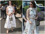 Claire Foy in Zimmermann @   Wimbledon 2019