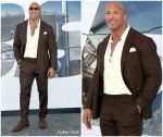 Dwayne Johnson In  Ralph Lauren @ 'Fast & Furious Presents: Hobbs & Shaw' LA Premiere