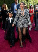 Beyonce Knowles  & Blue Ivy In Matching Outfits @ 'The Lion King' World Premiere