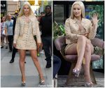 Iggy Azalea  In Floral Dress  @ Outside BUILD Series in New York