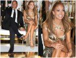 Jennifer Lopez In Versace @ 50th Birthday Celebration