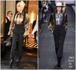 Lady Gaga'In Alberta Ferretti Out In New York