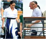 Meghan, Duchess of Sussex  In Givenchy & Hugo Boss @   Wimbledon Finals