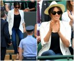 Meghan, Duchess of Sussex On Day 4 Of Wimbledon 2019