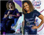 Michelle Obama  In Sergio Hudson  @ Essence Festival  2019