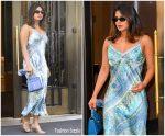 Priyanka Chopra In Hale Bob  Dress Out In New York