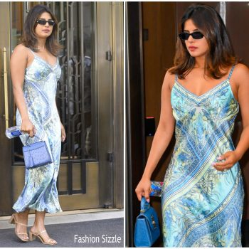 priyanka choprain-hale-bob-dress-out-in-new-york