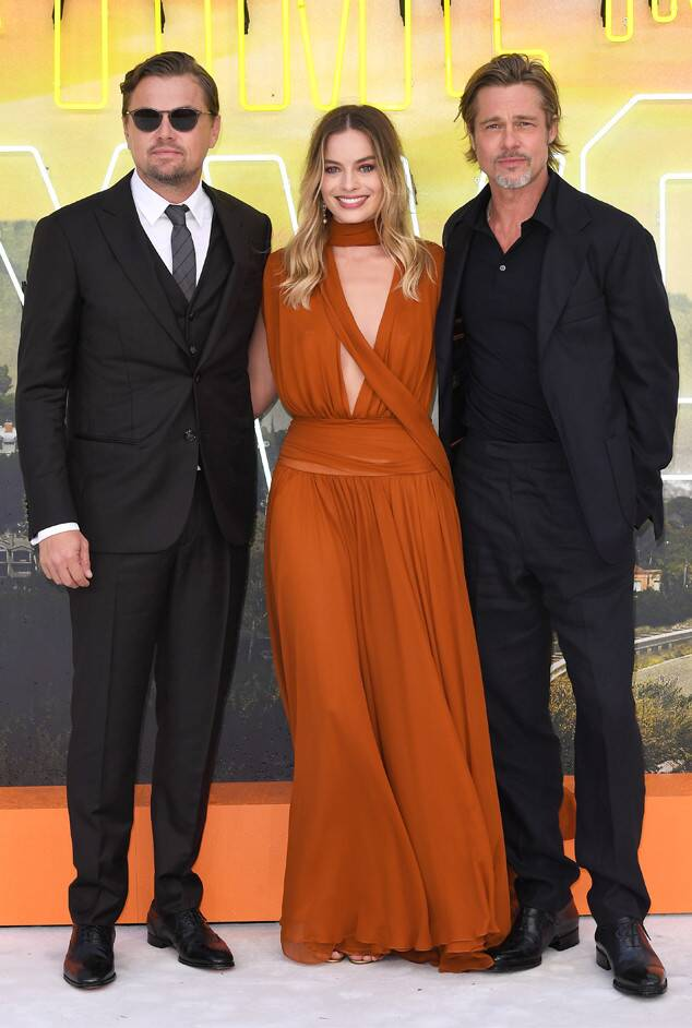 "leonardo-dicaprio,-brad-pitt-&-margot-robbie-@-""once-upon-a-time-in-hollywood-""-london-premiere"