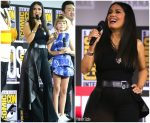 Salma Hayek In Alexander McQueen @ Marvel Studios panel  For Comic Con 2019