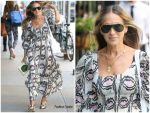 Sarah Jessica Parker  In Floral Dress Out In New York 2019