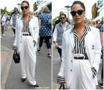 Tessa Thompson in Polo Ralph Lauren @  Wimbledon 2019