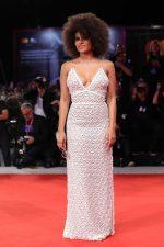 Zazie Beetz In Miu Miu  @ 'Seberg' Venice Film Festival Premiere