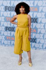 Angela Bassett  In Mustard Jumsuit @ Fox Summer TCA 2019 All-Star Party