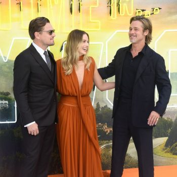 """leonardo-dicaprio,-brad-pitt-&-margot-robbie-@-""""once-upon-a-time-in-hollywood-""""-london-premiere"""