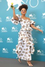 Zazie Beetz In Rodarte @ 'Seberg' Venice Film Festival Photocall