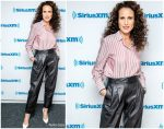 Andie Macdowell' In Brunello Cucinelli @  Sirius XM