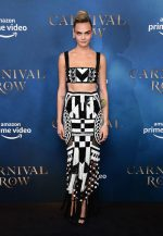 Cara Delevingne In Balmain @ The 'Carnival Row' London Screening